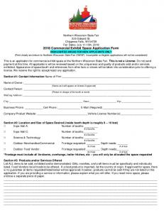 2018 Food-Merchandise Application Form