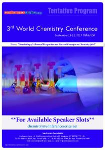 3rd World Chemistry Conference