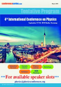 4th International Conference on Physics
