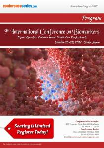 9th International Conference on Biomarkers