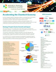 Accelerating the Cleantech Economy
