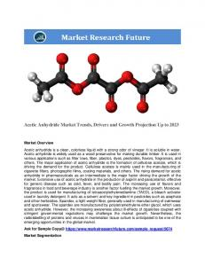 Acetic Anhydride Market By Application (Cigarette Filters, Coating Materials, Intermediate, Dyes, Flavors And Fragrance, Pesticides, Synthesizer, And Others), End-User (Pharmaceuticals, Textiles, Agrochemicals, Food And Beverages, And Others) And By Region Till 2023