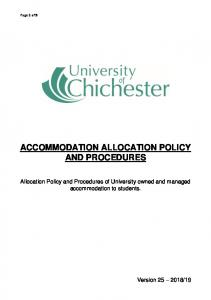 Allocation Policy