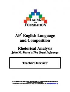 AP English Language and Composition Rhetorical Analysis