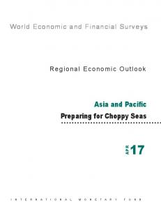 Asia Pacific Regional Economic Outlook, May 9, 2017 - IMF
