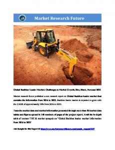 Backhoe Loader Market Information Report by Application (Industrial, Agricultural, Construction and   Others) and Region - Forecast to 2022