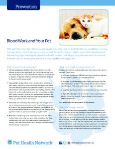 Blood Work and Your Pet - Animal Ark Veterinary Hospital