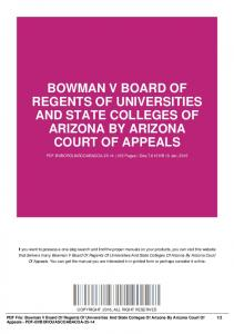bowman v board of regents of universities and state colleges of