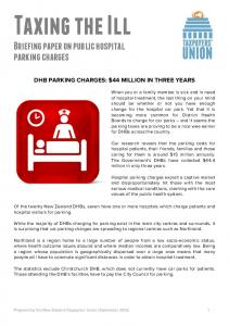 Briefing paper on public hospital parking charges