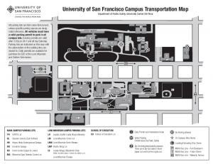 Campus parking map - University of San Francisco
