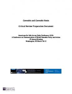 Cannabis and Cannabis Resin Critical Review
