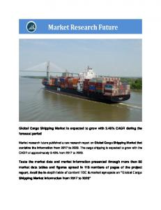 Cargo Shipping Market Research Report – Global Forecast to 2023