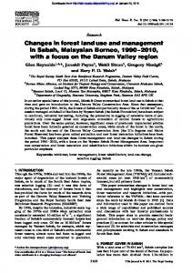 Changes in forest land use and management in Sabah, Malaysian