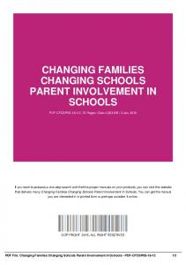 changing families changing schools parent