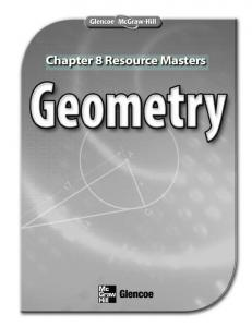 Chapter 8 Resource Masters