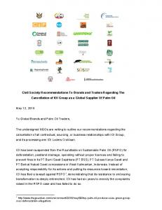 Civil Society Recommendations To Brands and Traders ... - RSPO