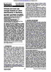Climate and land use change impacts on plant distributions ... - Journals