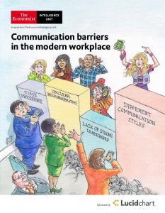 Communication barriers in the modern workplace - Economist