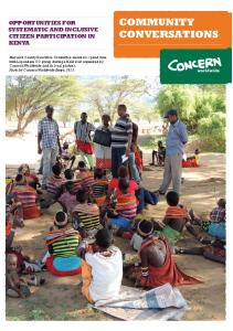 community conversations - Concern Worldwide