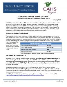 Connecticut's Earned Income Tax Credit