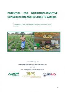 Conservation Agriculture - Concern Worldwide