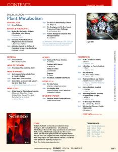 CONTENTS Plant Metabolism - Science