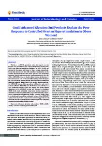 Could Advanced Glycation End Products Explain the