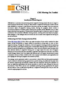 CSH Moving On Toolkit