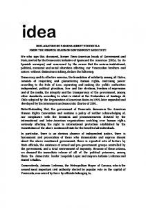 declaration of panama about venezuela from the ... - Perseus Strategies