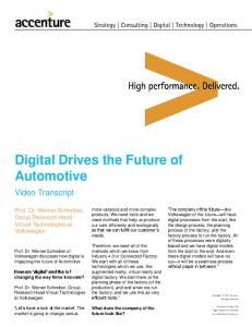 Digital Drives the Future of Automotive - Accenture