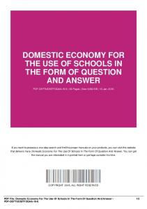 domestic economy for the use of schools in the form of