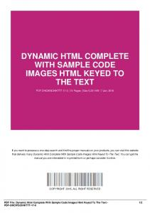 dynamic html complete with sample code images html