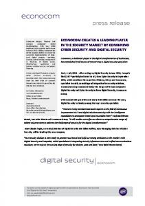 econocom creates a leading player in the security market by