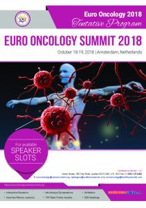 Euro Oncology Summit 2018