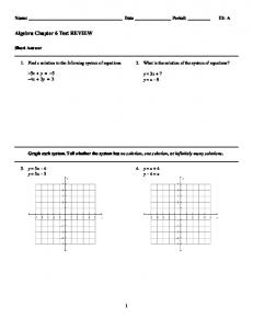 ExamView - Algebra Chapter 6 Test REVIEW
