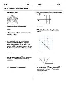 ExamView - First Semester Review Pre-AP Geometry I.tst