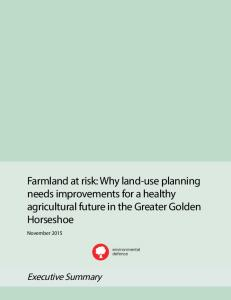 Farmland at risk: Why land-use planning needs