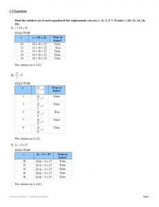 Find the solution set of each equation if the