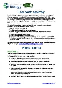 Food waste assembly Waste Fact File