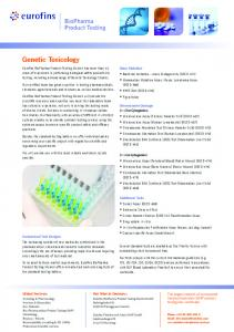 Genetic Toxicology - Eurofins