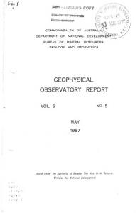 geophysical observatory report