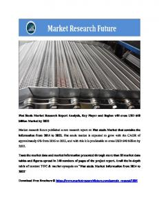 Global Flat Steel Market Research Report - Forecast to 2022