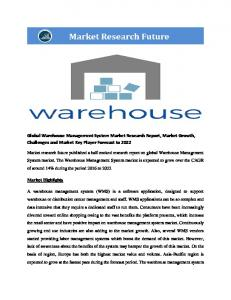 Global Warehouse Management System (WMS) Market Research Report - Forecast to 2022