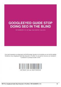 googleeyed guide stop doing seo in the blind-pdf