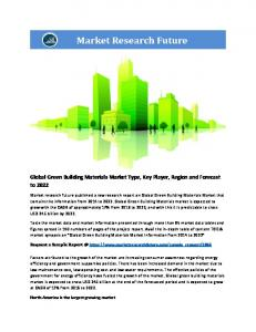 Green Building Materials Market Information by Application (Residential, Commercial, Infrastructure, Industrial) by End-use (Exterior siding, Interior Finishing, Insulation, Framing, Roofing and others) and Region - Forecast to 2022