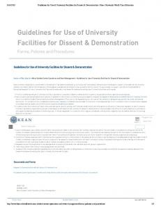 Guidelines for Use of University Facilities for Dissent