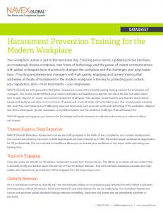 Harassment Prevention Training for the Modern