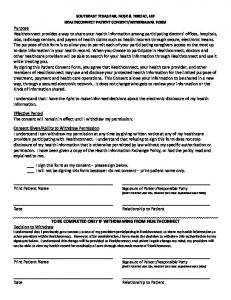 HealthConnect Patient Consent - Southeast Texas Ear, Nose & Throat