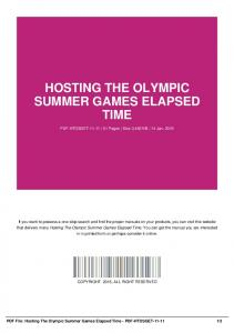 hosting the olympic summer games elapsed time-pdf