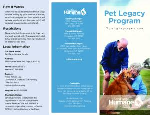 How It Works Restrictions Legal Information - San Diego Humane